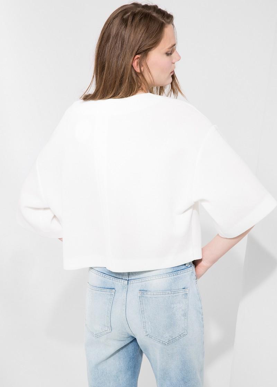 MANGO PREMIUM Minimal Boxy Sweatshirt