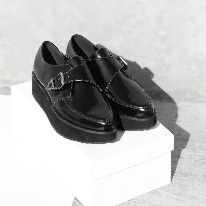 MANGO Platform Monk-strap Shoes