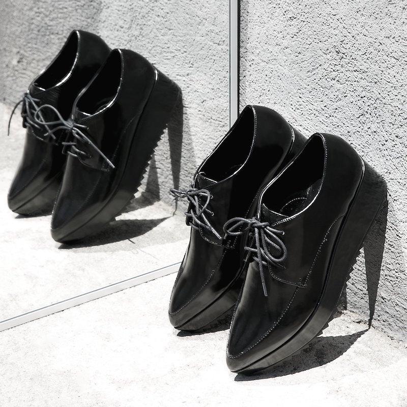 MANGO Platform Oxford Shoes