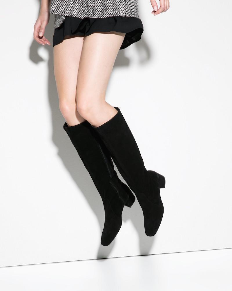 MANGO Suede High-leg Boots