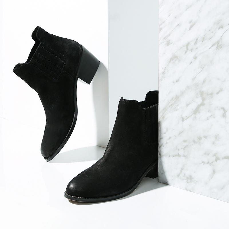 MANGO Trimmed Leather Ankle Boots