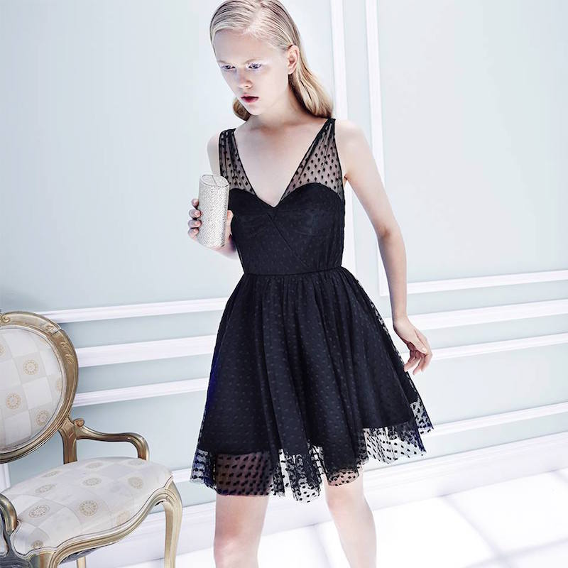 MILLY Grace Dotted Tulle Dress
