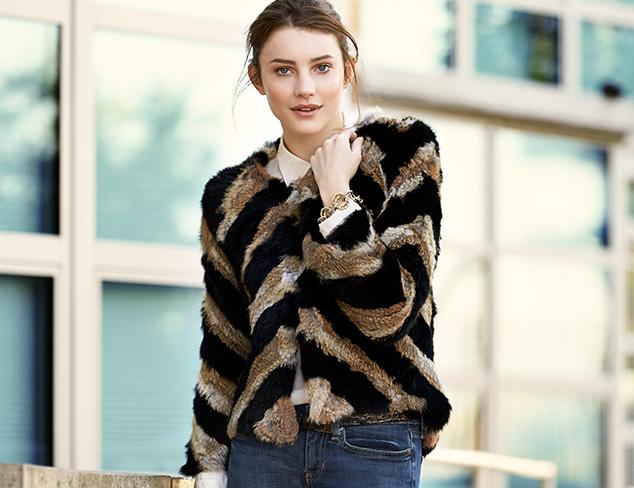Make a Statement: Fur Coats & Vests at MYHABIT