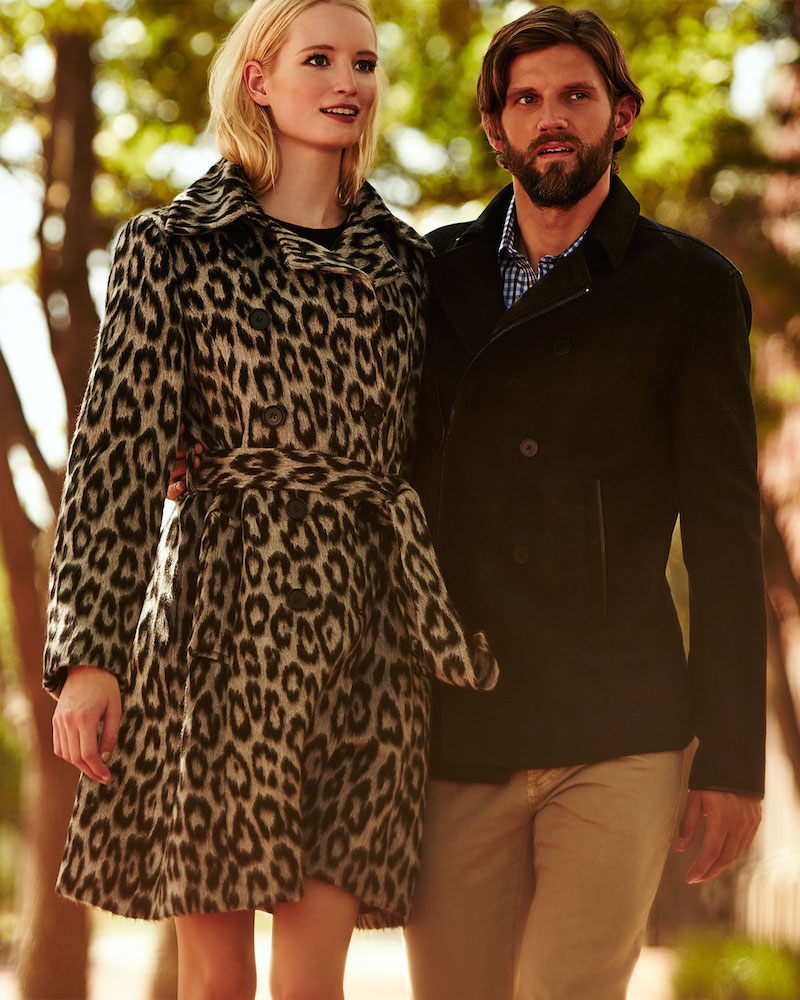 Neiman Marcus Leopard-Print Double-Breasted Coat