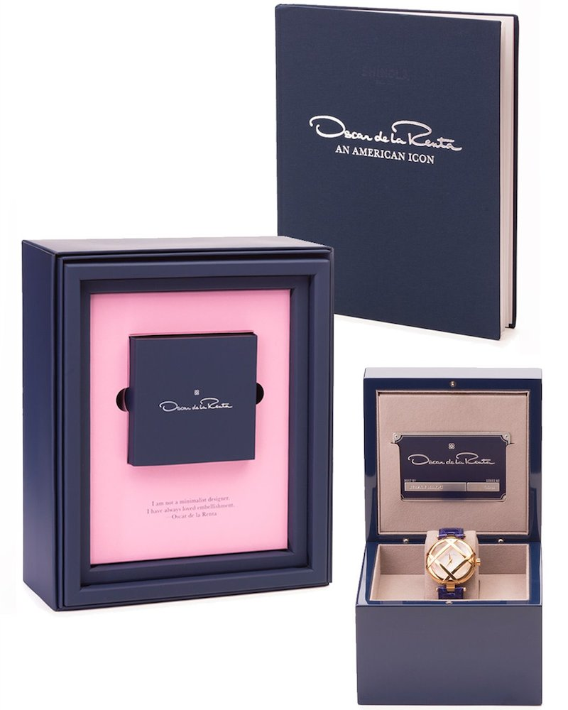 Oscar de la Renta Limited Edition Alligator Lattice Watch_7