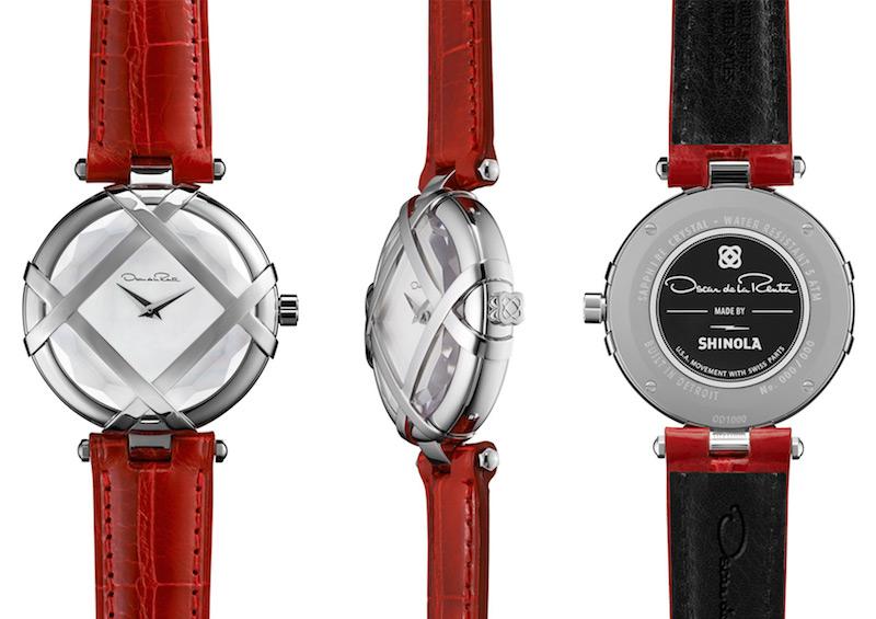 Oscar de la Renta Limited Edition Red Alligator Lattice Watch