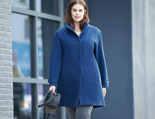 Plus Size: Fall Coats at MYHABIT