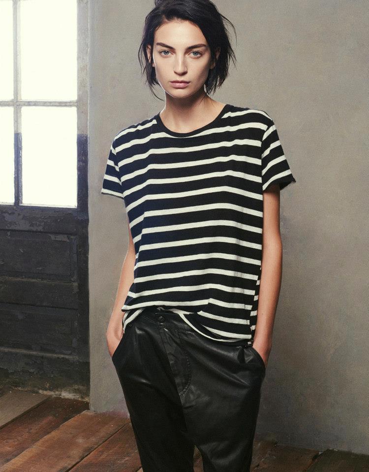 R13 Stripe-Pattern T-shirt