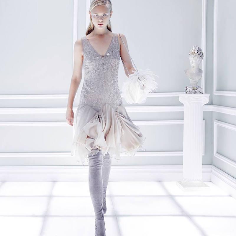 Ralph Lauren Collection Beaded Silk Spencer Dress