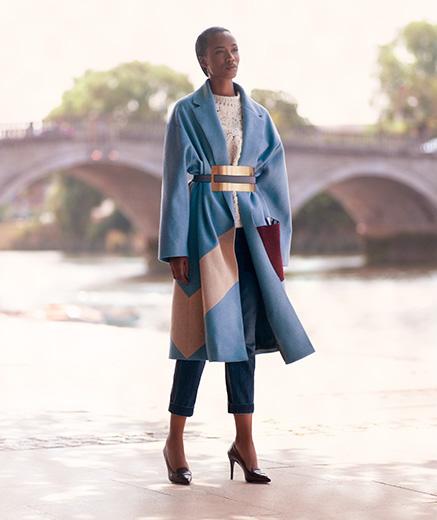 Roksanda Larkin Tri-colour Felted-wool Coat