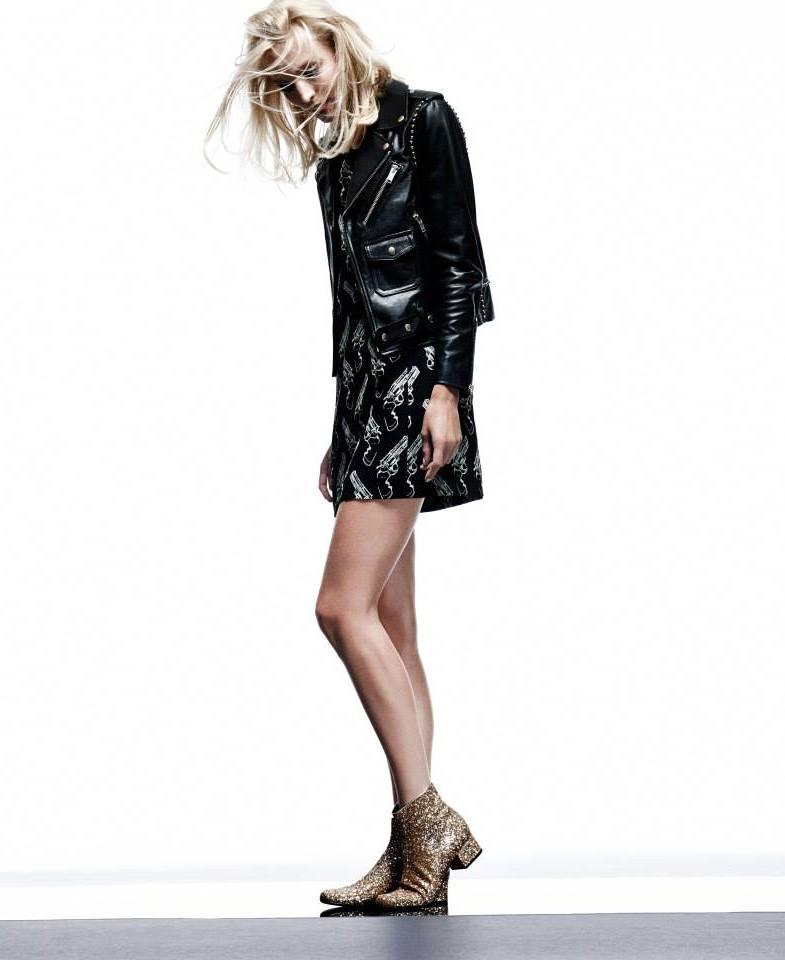 Saint Laurent Revolver-Print Crepe Dress