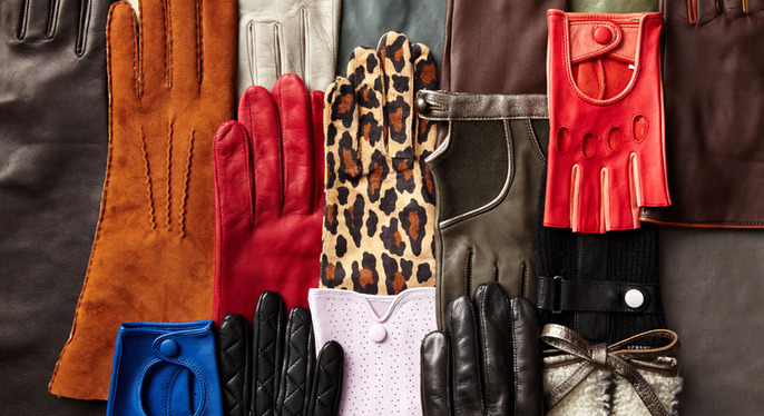 Sleek Leather Gloves at Gilt