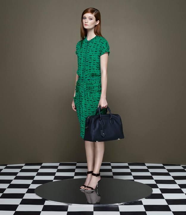 Thakoon x Barneys New York Eyelash Georgette Draped Dress