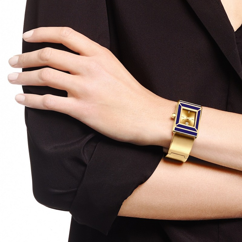 Tory Burch Limited Edition Robinson Rectangle Case Bangle Watch