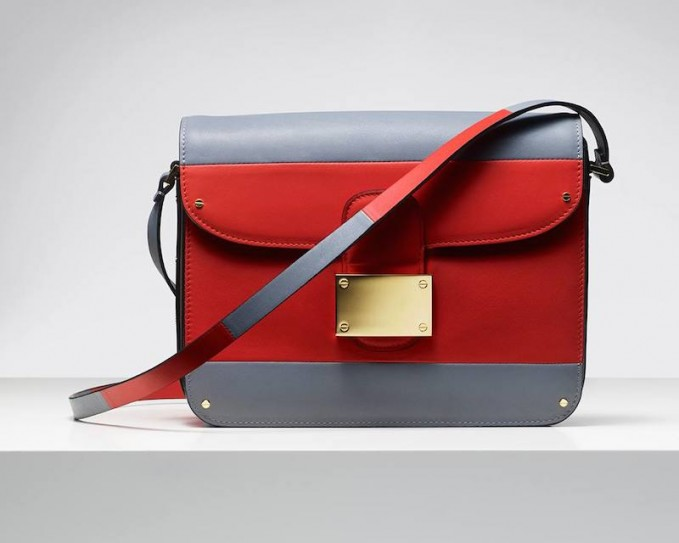 Valentino Rivet Colour-block Leather Shoulder Bag
