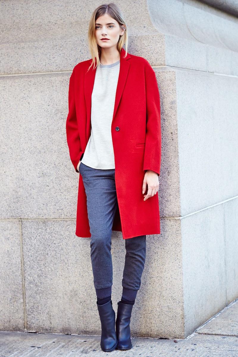 Vince Modern Wool Blend Coat