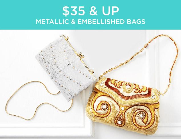 $35 & Up: Metallic & Embellished Bags at MYHABIT