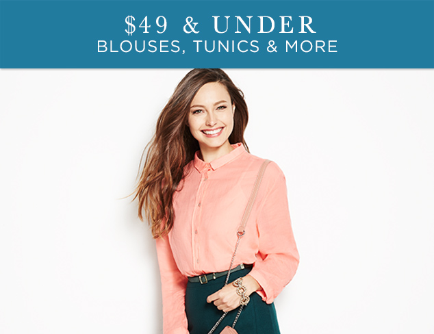 $49 & Under: Blouses, Tunics & More at MYHABIT