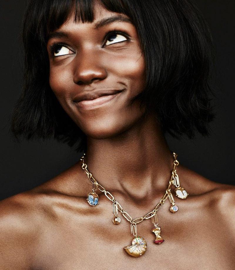 Aurélie Bidermann Fine Hammered Gold Necklace