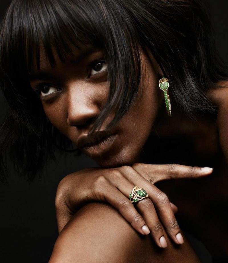 Aurélie Bidermann Fine Tsavorite & Diamond Scarab Beetle Ring