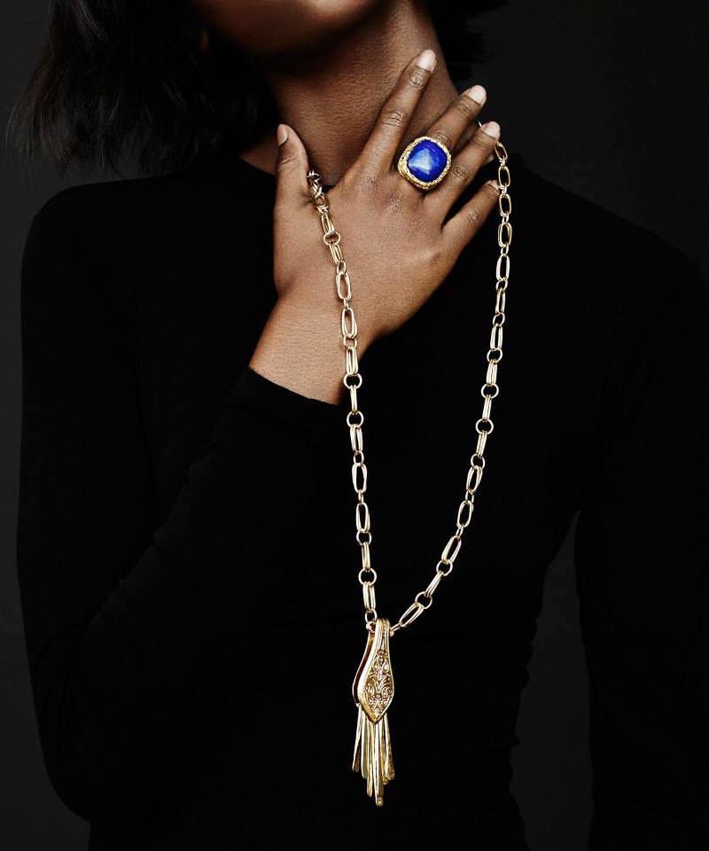 Aurélie Bidermann Fringe-Embellished Pendant Necklace