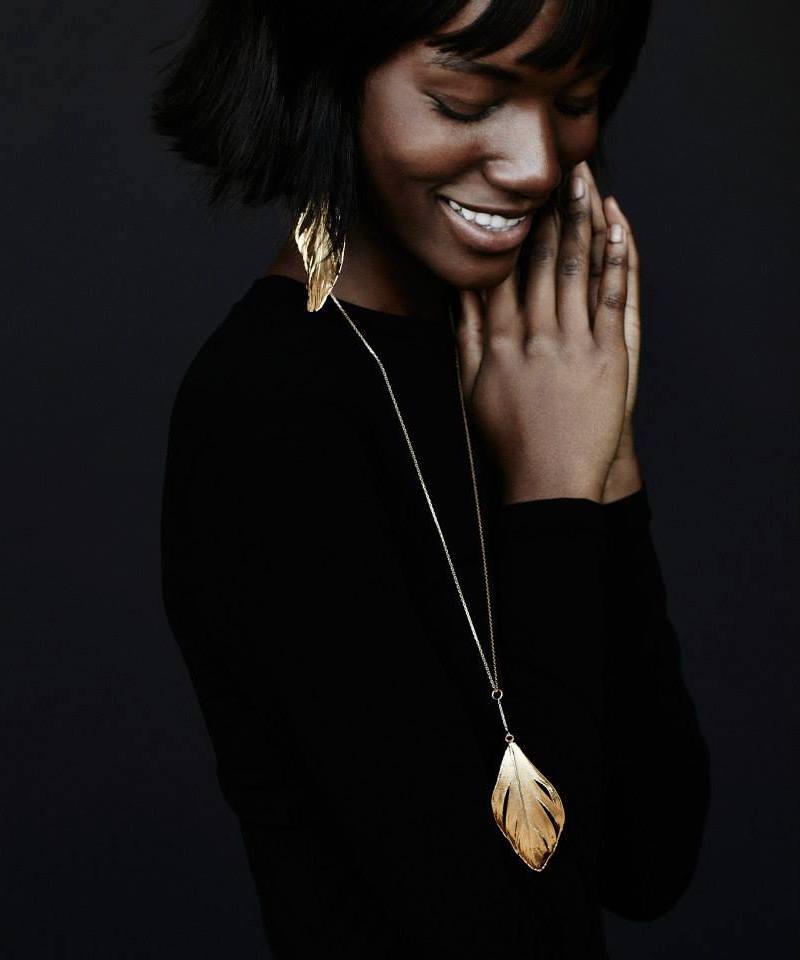 Aurélie Bidermann Gold Feather Necklace