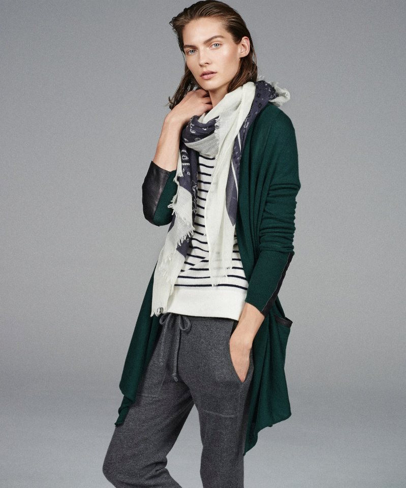 Barneys New York Drape-Front Cardigan