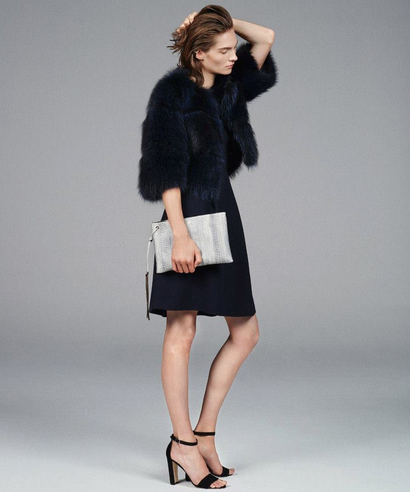 Barneys New York Fur Cropped Jacket