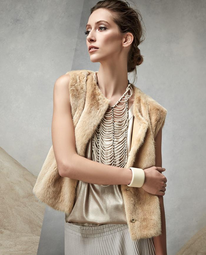Brunello Cucinelli Snap-Front Mink Fur Vest