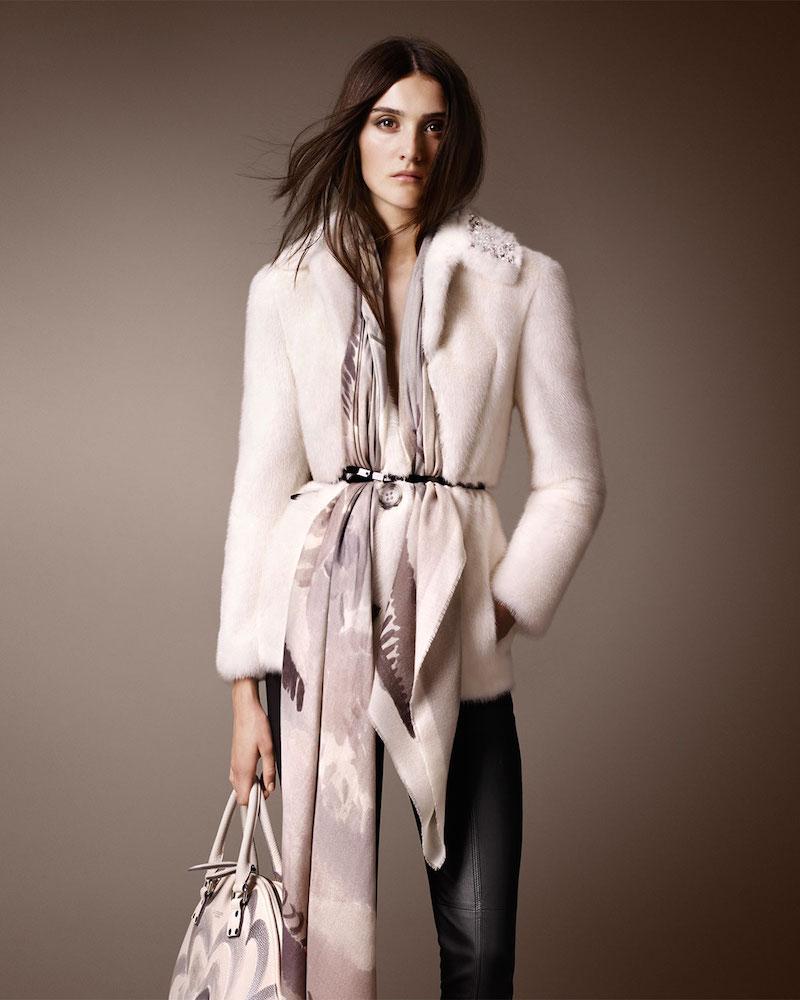 Burberry Prorsum Bead-Embellished Mink Fur Jacket