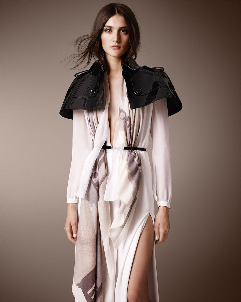 Burberry Prorsum Patent Leather Capelet