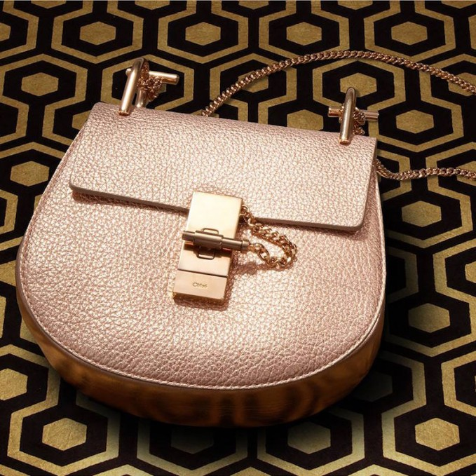 Chloé Drew Metallic Shoulder Bag