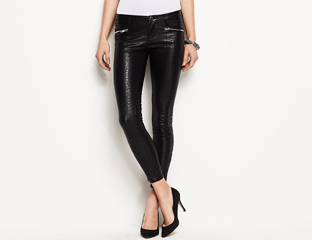 BLANKNYC Faux Leather Skinny Ankle Jean