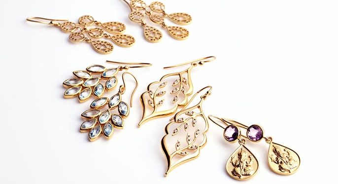 Dazzling Crystal Earrings at Gilt
