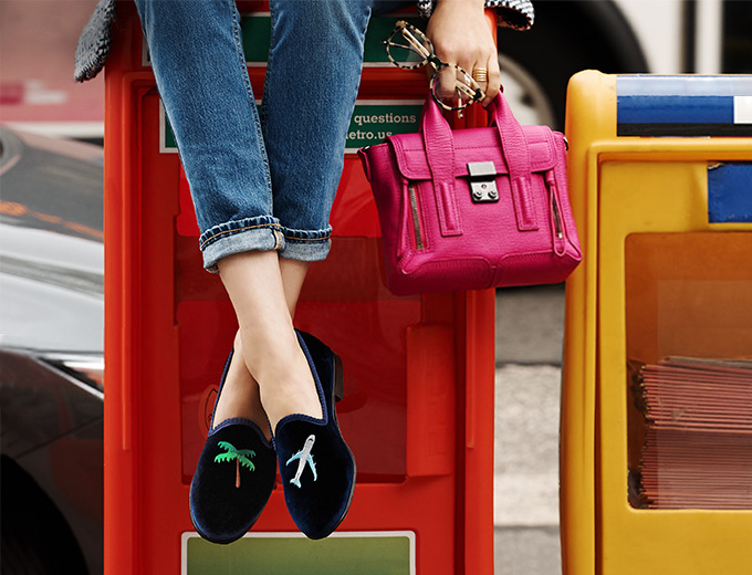 Del Toro #JetSetter Embroidered Loafers