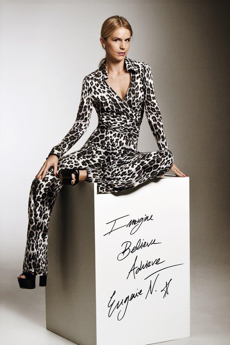 Diane von Furstenberg Vintage Silk Jersey Wrap Top and Trousers