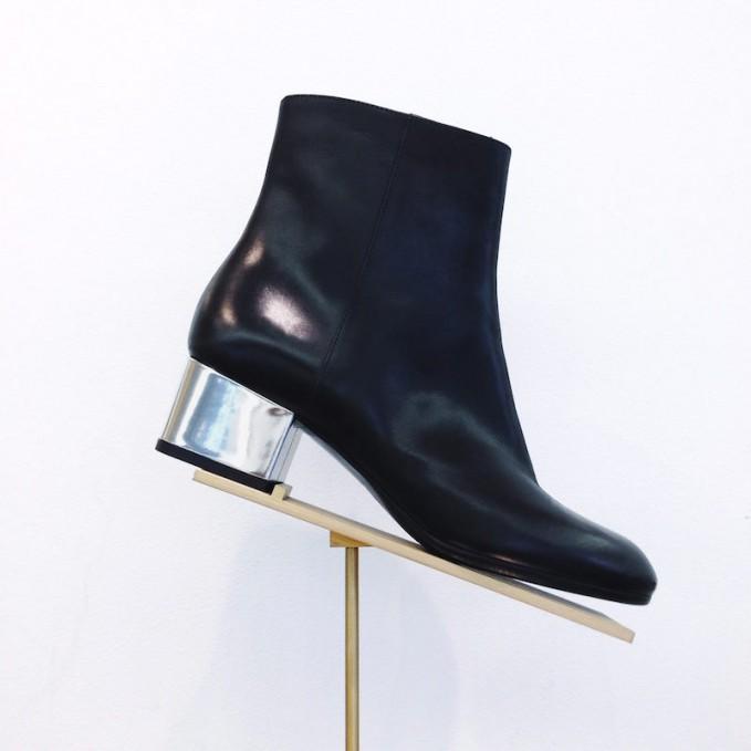 Dries Van Noten Metallic-Heel Ankle Boots