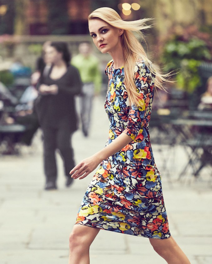 Erdem Wilhemina Half-Sleeve Floral Sheath Dress