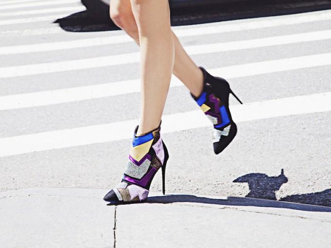 Giuseppe Zanotti Waxbill Patches Mixed Media Ankle Boots