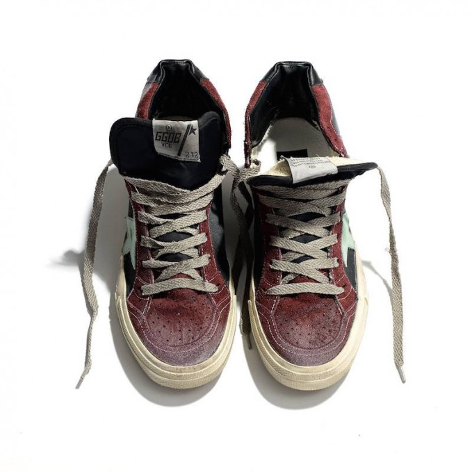 Golden Goose Deluxe Brand 2.12 Canvas and Suede Mid-top Sneakers