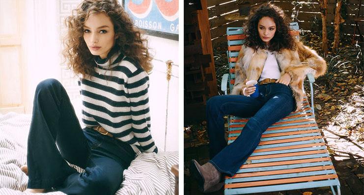 J Brand The Doll High Waist Bell Bottom Jeans