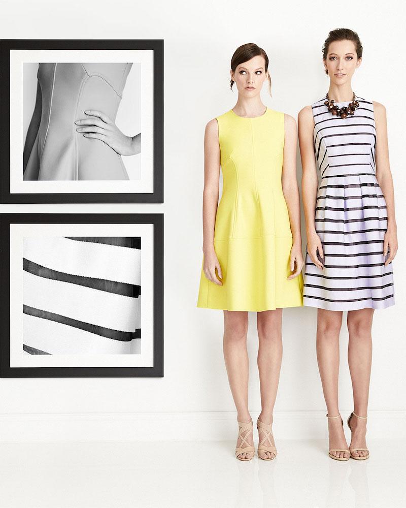 Lela Rose Sleeveless Seamed A-Line Dress