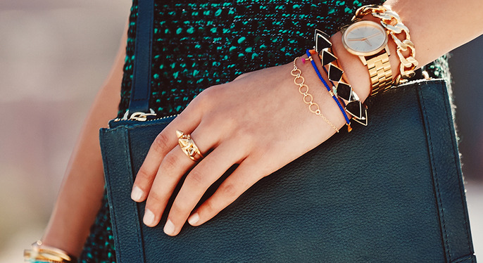 Lessons in Layering: Bracelets at Gilt
