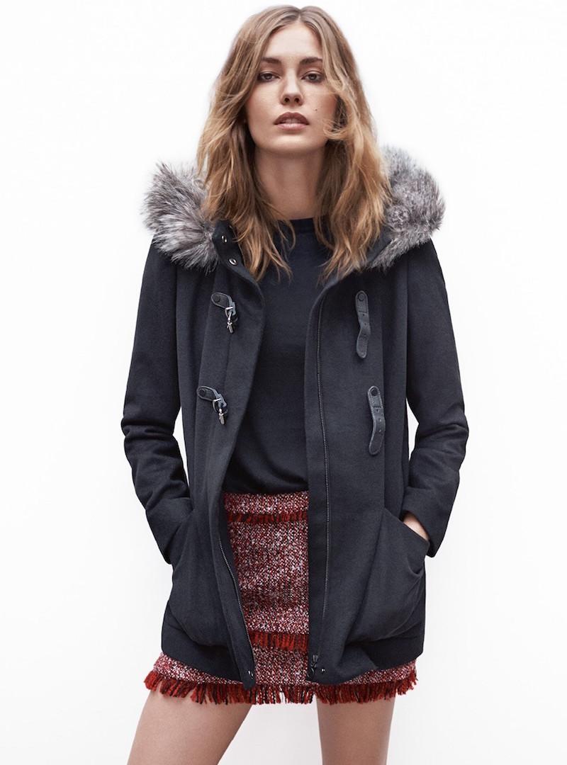 MANGO Detachable Hood Coat