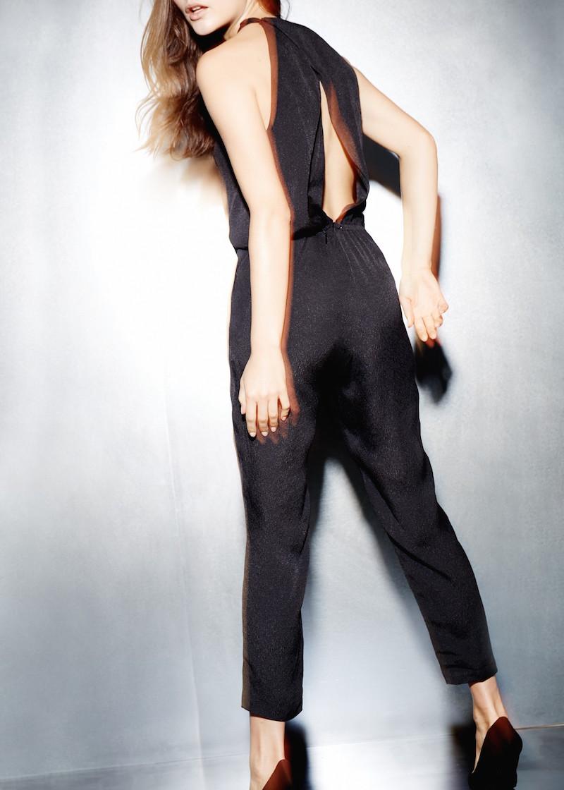 MANGO PREMIUM Asymmetric Strap Jumpsuit