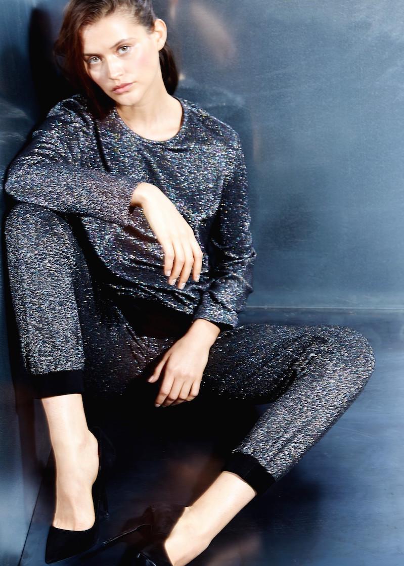 MANGO PREMIUM Glitter Sweatshirt