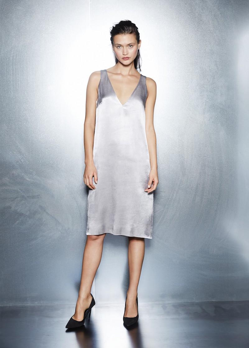 MANGO PREMIUM Satin Dress