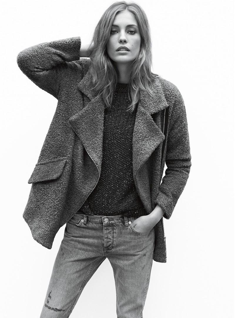 MANGO Tweed Oversize Coat