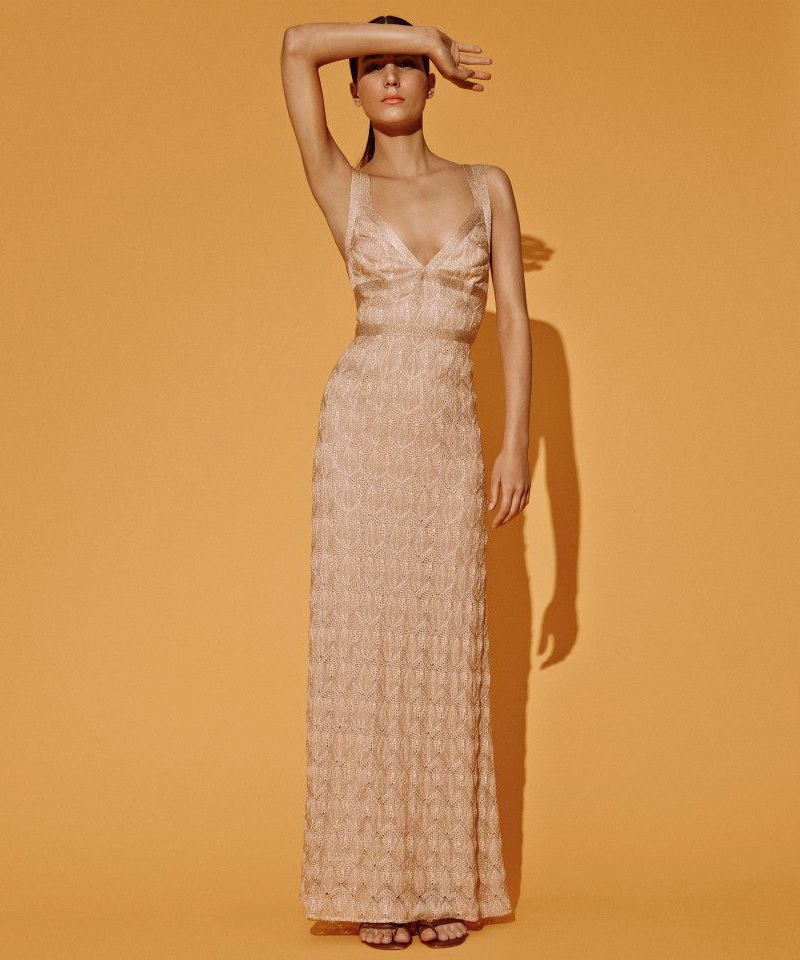 Missoni Metallic Lace-Knit Gown