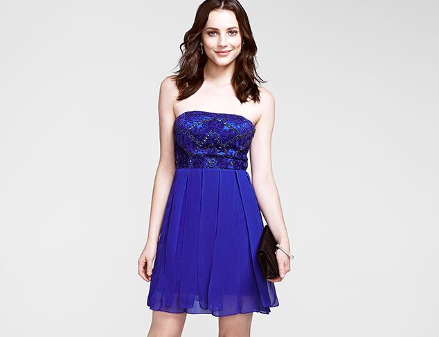 Sue Wong Strapless Dress with Beading
